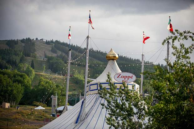 The Italian Zoppe Family Circus tent in Snowmass Base Village on Aug. 18.