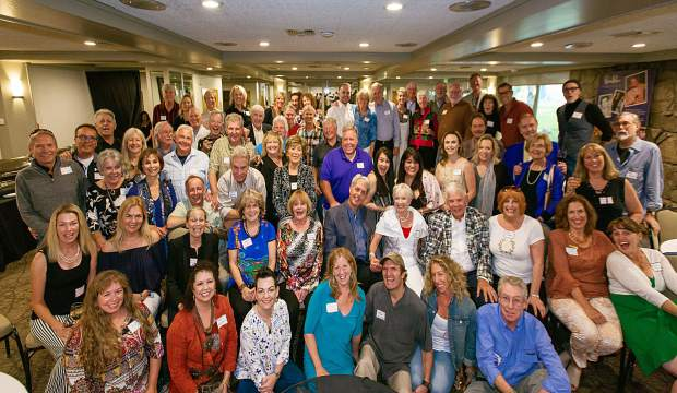 Former employees of the Crystal Palace gathered for a reunion Tuesday at the Inn at Aspen. One of the highlights was a performance from the dinner theater's founder and owner, Meat Metcalf, wearing the plaid sports coat.