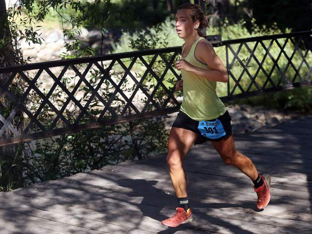 Steamboat's Penelope Freedman competes in the Aspen Backcountry Half Marathon on Saturday, Aug. 11, 2018, at Rio Grande Park. She was second among women. (Photo by Austin Colbert/The Aspen Times).