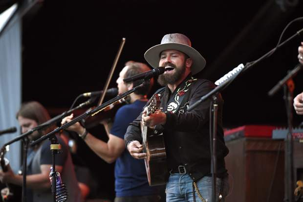 The Zac Brown Band photographed performing at Coors Field in Denver in 2015.