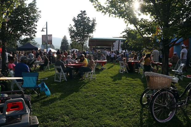 Hundreds gathered to say thank you to the local first responders during the National Night Out event on Tuesday, Aug. 7, 2018 at Triangle Park in Willits.