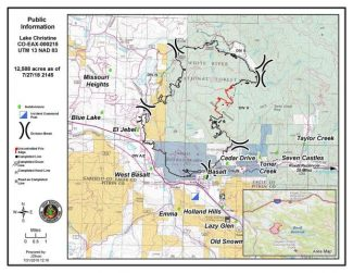 Inaccessible terrain, heavy fuels make full containment of Lake Christine Fire difficult