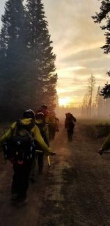 Rain helps, hinders crews working Lake Christine Fire's final containment section