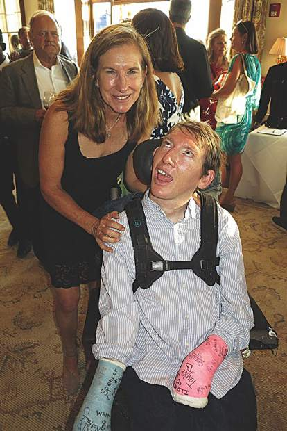 Katie Grange with her son Max, a much loved Challenge Aspen participant.