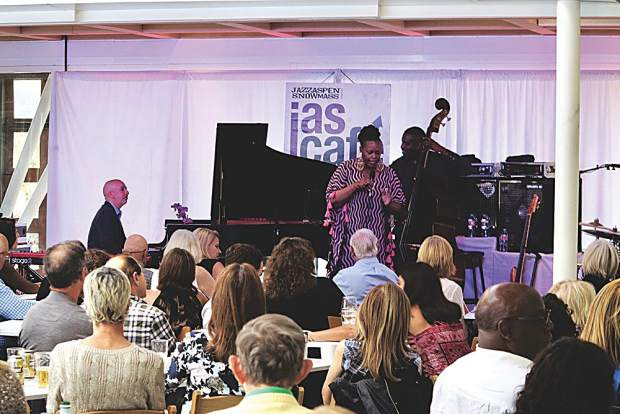 Guests of the Akris/Town & Country reception on Aug.17, enjoyed access to JAS Cafe's Dianne Reeves concert atop Aspen Art Museum.