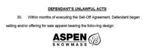 Aspen Skiing Co. alleges trademark violations by T-shirt shops
