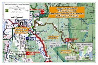 Restoration project near Warren Lakes could delay travel on popular Smuggler Mtn Road