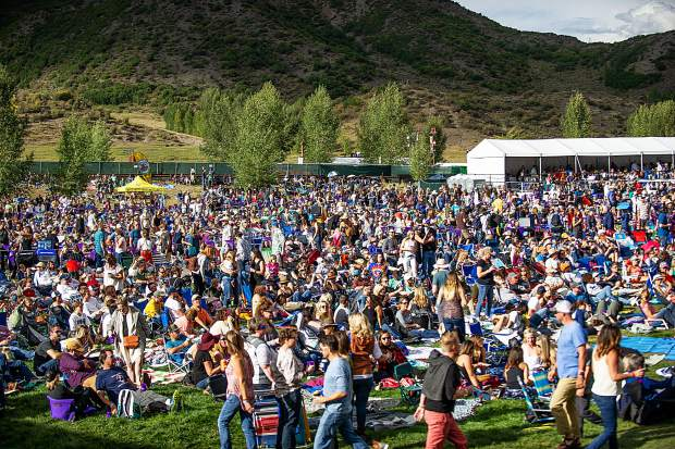 The crowd during Fitz and The Tantrums performing for JAS Labor Day Experience on Saturday.
