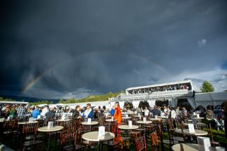 Double-rainbow shines on Michael Franti, lightning cuts short Lionel Richie as weather steals the show Friday at Jazz Aspen Labor Day