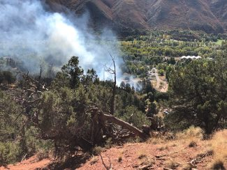 Crews knock down wildfire in Basalt; cause likely downed power line