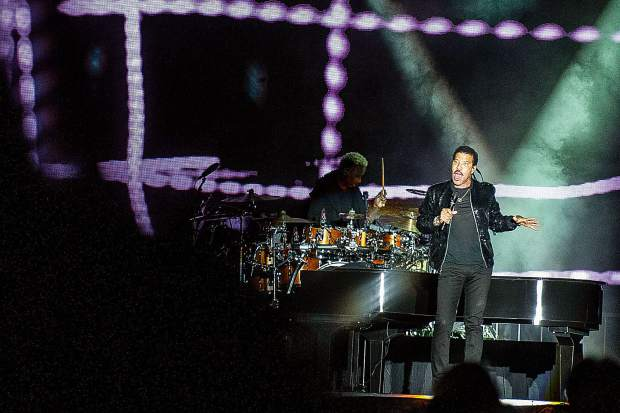 Lionel Richie headlining the Friday night concert for the Jazz Aspen Snowmass Labor Day Experience.