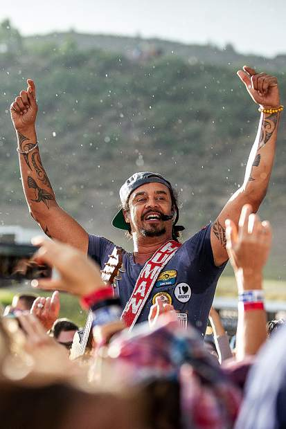 Michael Franti opened the 2018 JAS Labor Day Experience on Friday night in Snowmass Village.