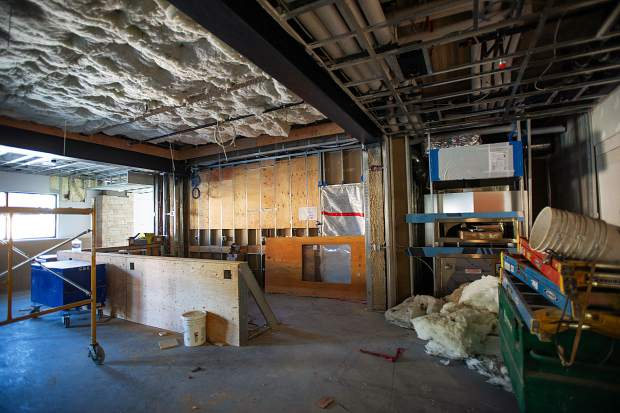 The bar area in the new Limelight Hotel. The pizza oven in the Aspen Limelight mimicked in the Snowmass construction.