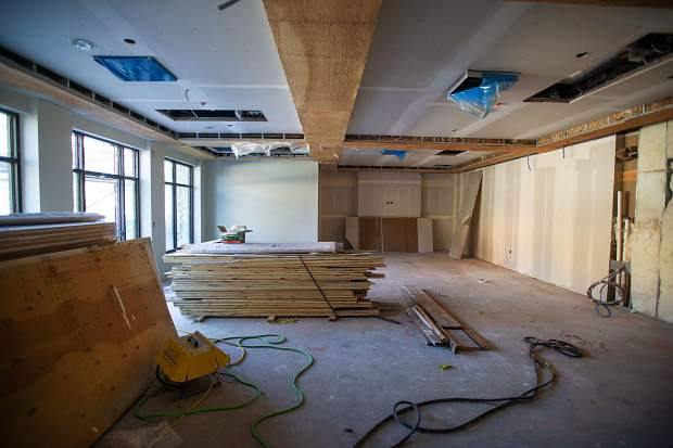 Construction on the Snowmass club members area in the Limelight Hotel in Snowmass on Aug. 30.