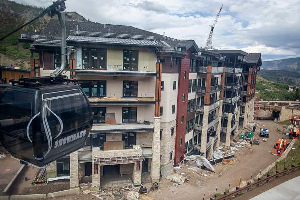 Construction on the Limelight Hotel in Snowmass on Sept. 2.