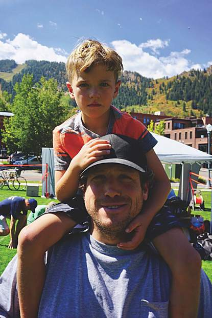 James Borie and his son, Koan. Oliver Sharpe photo.