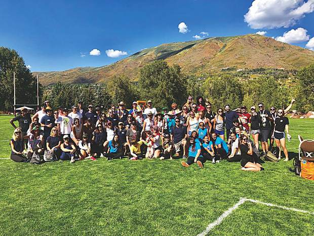 The obligatory field day group photo.