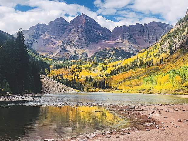 A postcard perfect day at the Maroon Bells last weekend.