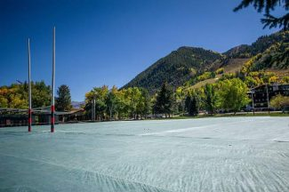 Aspen's popular Wagner Park downtown gets a beating