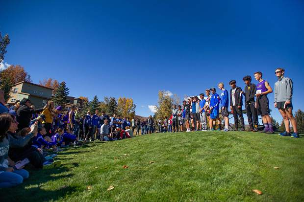 The top 15 boys that will be heading to State at the regional cross-country meet at the Aspen Golf Course on Friday morning.