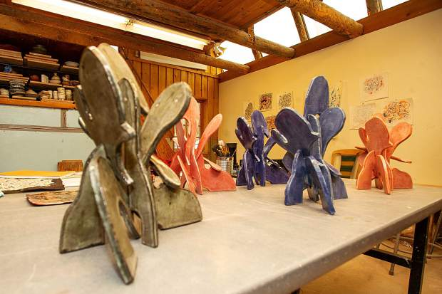 Ceramic creations by artist Emilio Perez from his time spent at Anderson Ranch.
