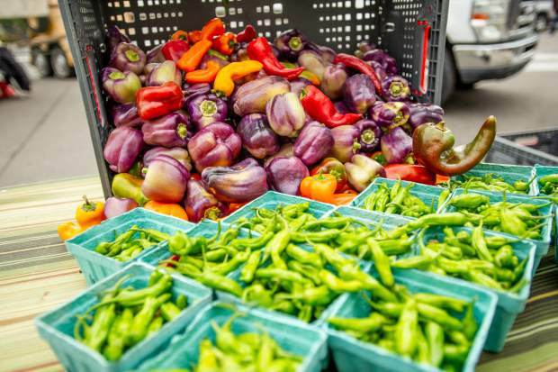 Fresh produce at the last farmers market for the season in Aspen on Oct. 6.