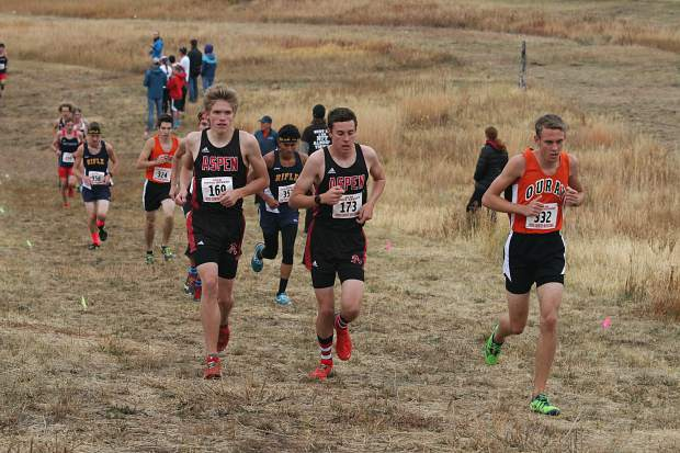 Runners compete in the AHS cross country meet on Saturday, Oct. 6, 2018.