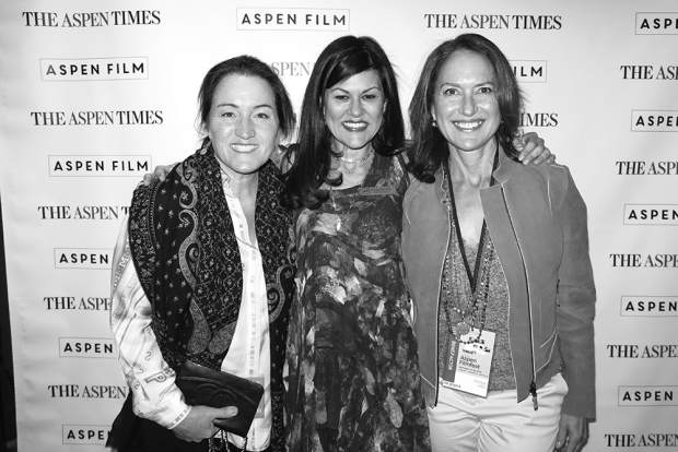 Becky Steere, Susan Wrubel and Helga Fisch were all smiles on opening night of Aspen Filmfest.