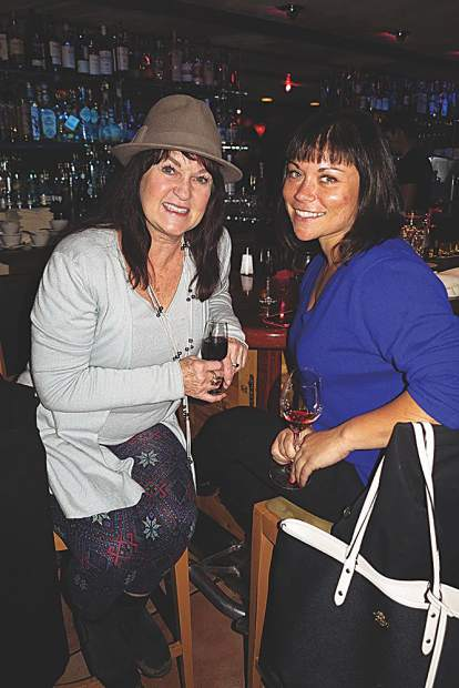 Ruth Kruger and Julia Punj dining in support of Lucky Day.