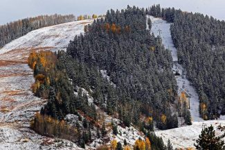 On the hill: Aspen is a winter wonderland — in October
