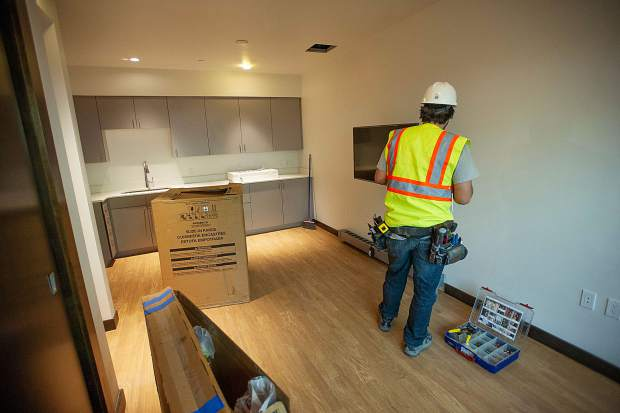 One of the new Snowmass fire station efficiency apartments. There will be 6 apartments total in the new facility.