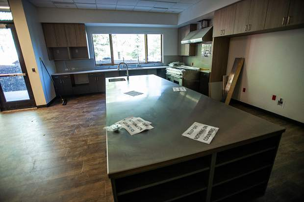 The kitchen for the firefighters in the newly remodeled fire station in Snowmass.