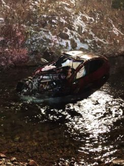 Area high school students survive car crash into Maroon Creek
