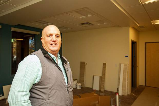 Mountain Family Health Development Director Garry Schalla in the dental area for the new Basalt Integrated Health Center located next to Stubbies.