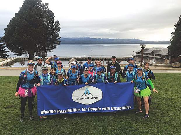 Team Challenge Aspen 2018 about to set off on their ultramarathon in the Aspen sister city of Bariloche, Argentina, on Oct. 28. Courtesy photo.