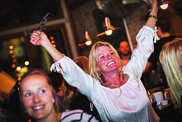 Renee Mackie of Emma celebrates as prize drawing winner. Courtesy photo.