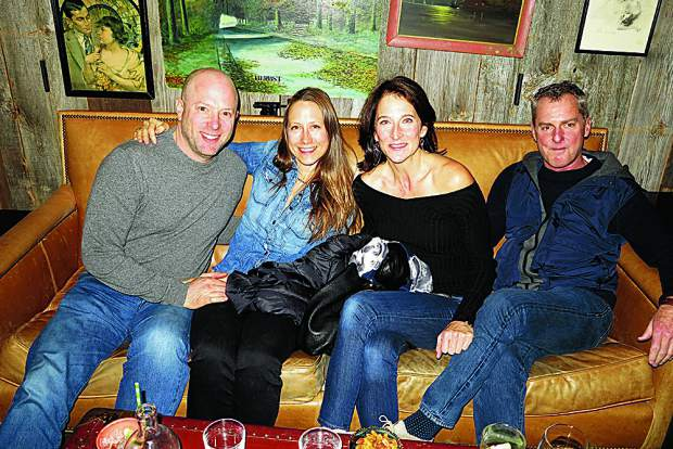 Jeffrey Woodruff, Amy Rutkowski, Deborah Tomlinson and Ron Dullinger hanging at Hooch.