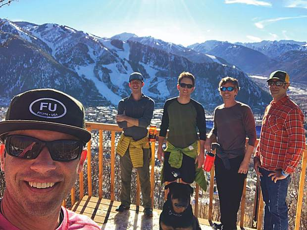 Aspen's best ski concierges are ready for winter! Steve Goff, Joe Idzior, Cameron Short, Ray McNutt and Jason Tie. Steve Goff photo.