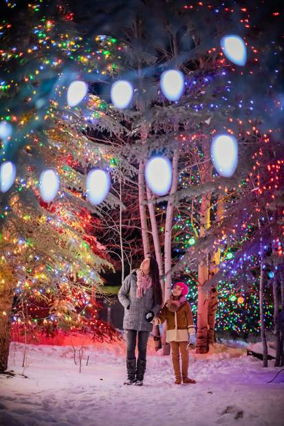 More than 40 trees lit up at the sixth annual lighting ceremony at Snowmass Chapel on Dec. 8.