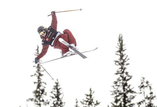 Aspen native Alex Ferreira rotates in mid-air during the qualifying round at the Toyota U.S. Grand Prix halfpipe competition on Wednesday, Dec. 5, at Copper Mountain Resort.