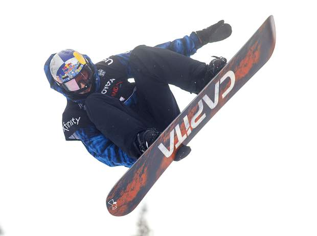 Scotty James, of Australia, executes a trick at the Toyota U.S. Grand Prix halfpipe qualifiers on Thursday, Dec. 6, at Copper Mountain Resort.