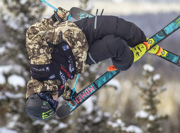 Two-time U.S. Olympic gold medalist David Wise executes a trick in the halfpipe finals at the Toyota U.S. Grand Prix World Cup event on Friday, Dec. 7, at Copper Mountain Resort. Wise placed third in the finals.