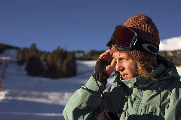 U.S. Olympic gold medalist and Silverthorne resident Red Gerard relaxes at Breckenridge Ski Resort on Friday, Dec. 14, in between events at Dew Tour.