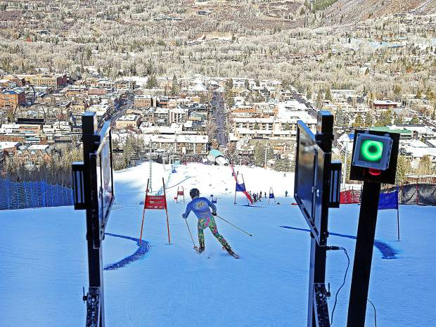 Team OxiClean's Anthony Sullivan competes in the Audi Ajax Cup on Sunday, Dec. 30, 2018, on Aspen Mountain.