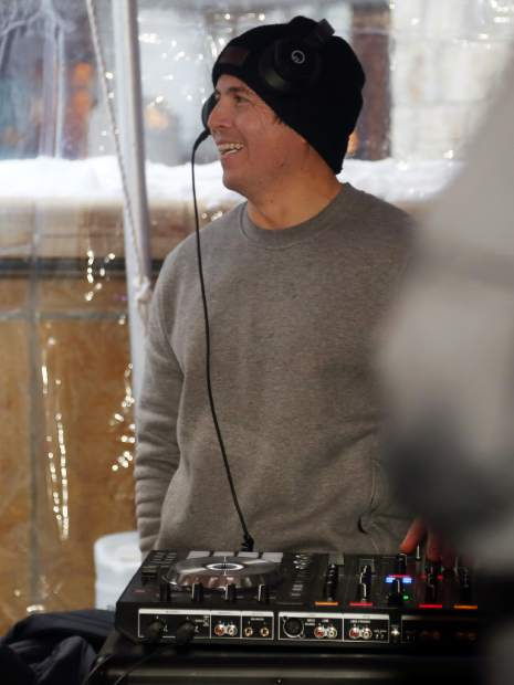 Aspen's DJ Naka G controls the music during the Audi Ajax Cup after-party on Sunday, Dec. 30, 2018, at the base of Aspen Mountain.