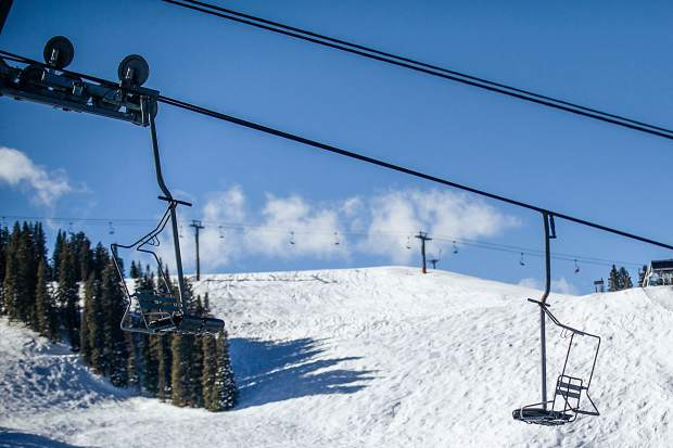 The Bell Mountain chairlift sits idle on Aspen Mountain. Aspen Skiing Co. has a vision to make the chair a bigger part of the ski area's future.