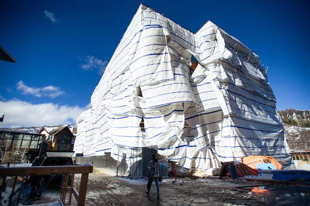 Building 7 in Snowmass Base Village on Dec. 7.