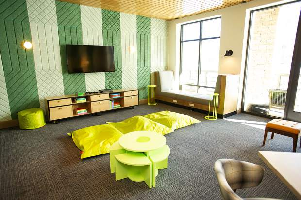 The children's area in the new Limelight Hotel in Snowmass.