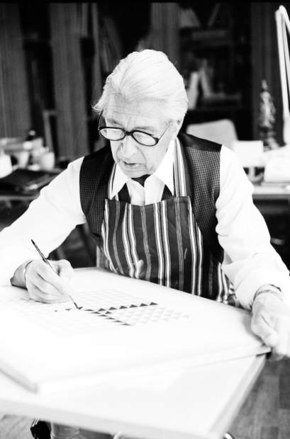 Herbert Bayer at work in 1975.