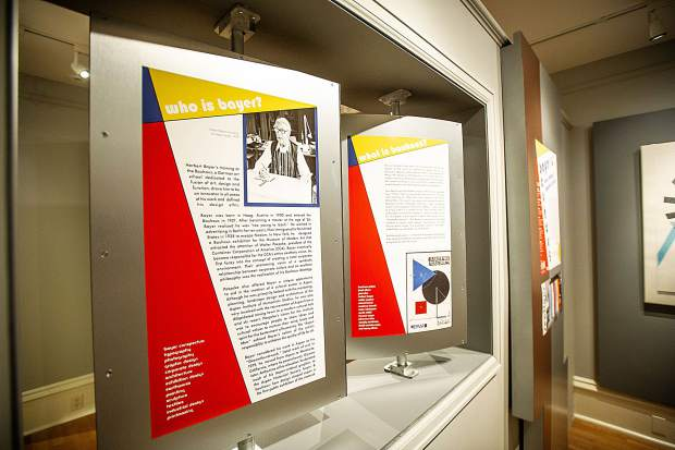 The Bayer and Bauhaus exhibit,